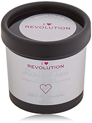I Heart Revolution Rainbow Tones Silver Angel - semi permanente Haarfarbe und Pflegespülung in einem - auswaschbar mit 8-12 Haarwäschen - vegan, mehrfach verwendbar - 120 ml