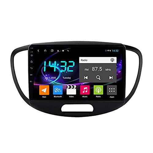 Android 10.0 Car Stereo Sat Nav Radio para H-yundai i10 2008-2012 Navegación GPS 2 DIN 9 '' Unidad Principal Reproductor Multimedia MP5 Receptor de Video con 4G FM DSP WiFi SWC Carplay