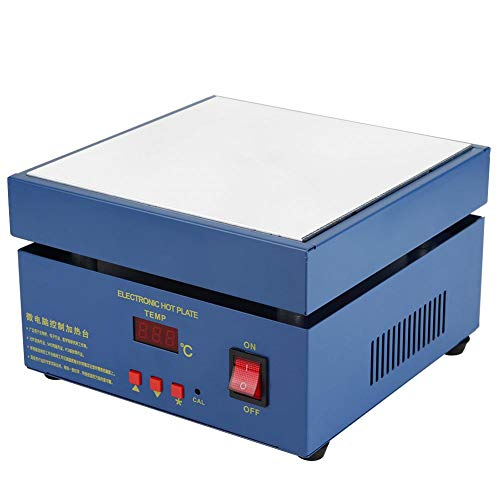 110V 850W LED Microcomputer Electric Hot Plate 200x200mm Preheat Soldering Preheating Station PCB Preheating Station Preheat Oven for Soldering Station Welder Rework Heater Lab