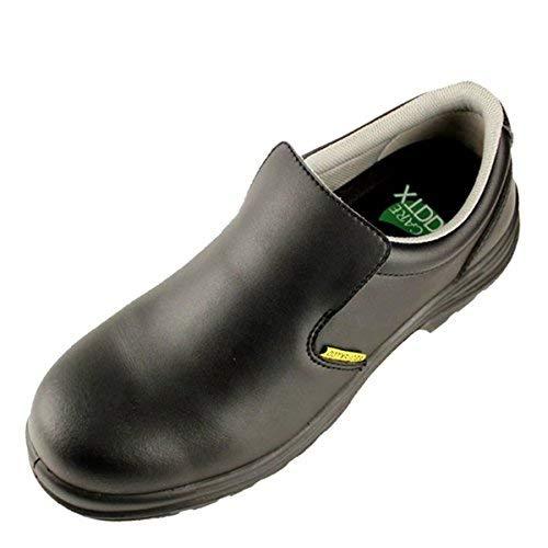 Zapatos de Seguridad para Hombre Antideslizante S2 SRC Calzado de Trabajo Puntera Compuesta Antiestáticos Cómodo Negro