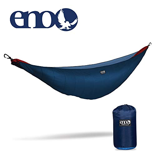 ENO - Eagles Nest Outfitters Ember Hammock UnderQuilt, Lightweight Sleeping Quilt for Cold Weather Camping, Charcoal/Red