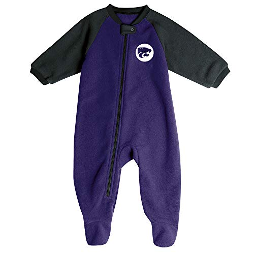 Pro Edge Infants' NCAA Fleece Blanket Sleeper Footed Pajamas Romper (Kansas State Wildcats, 3-6 Months)