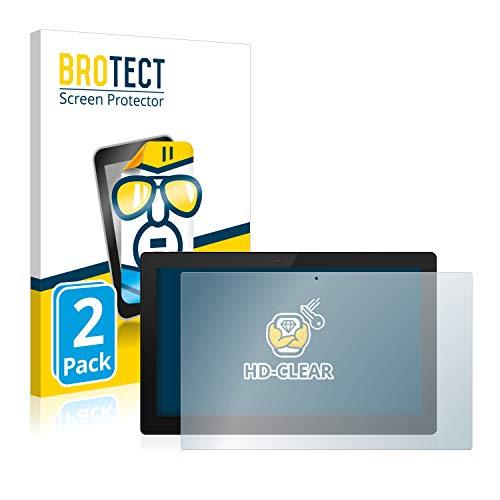 BROTECT Schutzfolie kompatibel mit TrekStor Primetab S11B (2 Stück) klare Bildschirmschutz-Folie