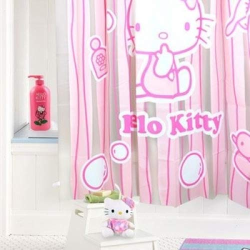 Hello Kitty Shower Curtain: Stripes