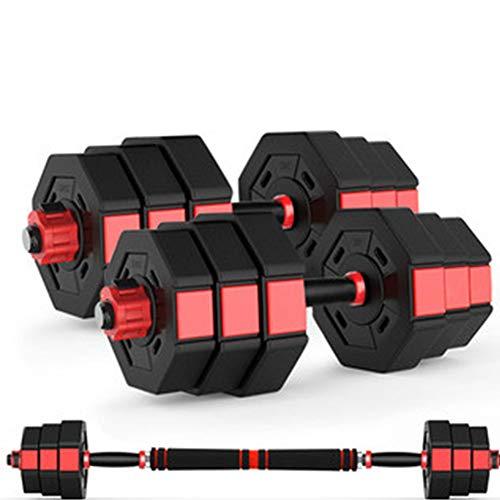 Juego de mancuernas de fitness con mancuernas ajustables, equipo de fitness para el hogar para hombres y mujeres, entrenamiento de entrenamiento con biela utilizada como barra (10 - 40kg) (Size:10 kg)