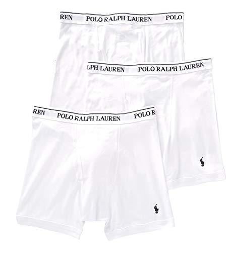 Polo Ralph Lauren Classic Fit 100% Cotton Boxer Briefs  3 Pack RCBBP3 M/White