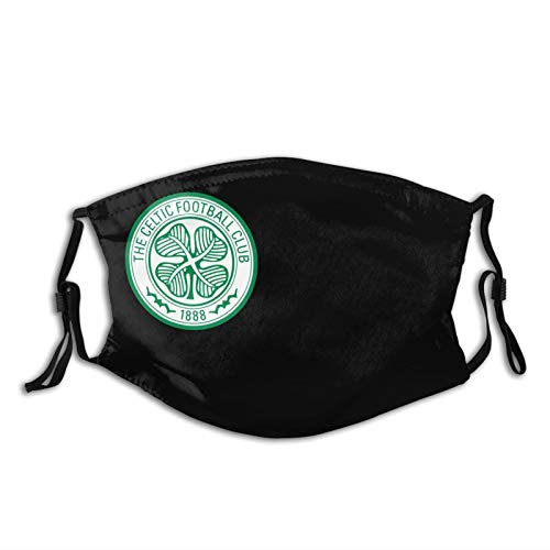 Celtic F.C. Unisex Fashionable Dustproof Filter Face Masks with Nose Wire & Elastic Ear Loops(2 Filter)