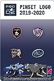 Set G de 4 pins Pro D2 : Rouen Normandie Rugby, Soyaux, Valence Romans Drôme Rugby, Rugby Club vannes