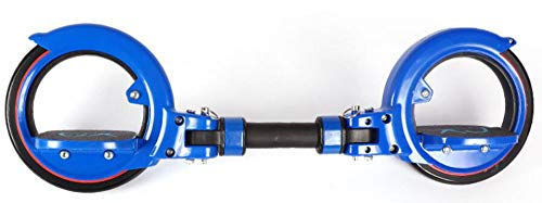 PORU Drift Freeline Skates,Orbit Wheel Skatebike Skateboards Fiir Jugendliche/Kinder/Erwachsene Drift-Skate Schlangenförmig Vitalität Tafel Übung Abs Drift Tafel,Blue