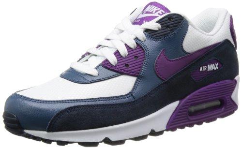 Nike Wmns Air max 90 essential, Sneaker donna Bianco bianco, weiß/anthrazit/lila
