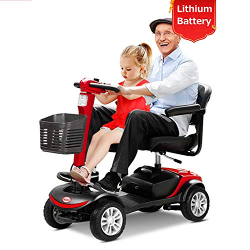 Review JCOCO 4-Wheel Mobility Scooter - Electric Powered Mobile Wheelchair Device for Adults - Foldi...