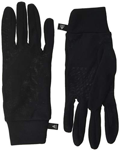 Odlo Gloves Originals Warm-Black, Accessori Unisex Adulto, Nero, XS