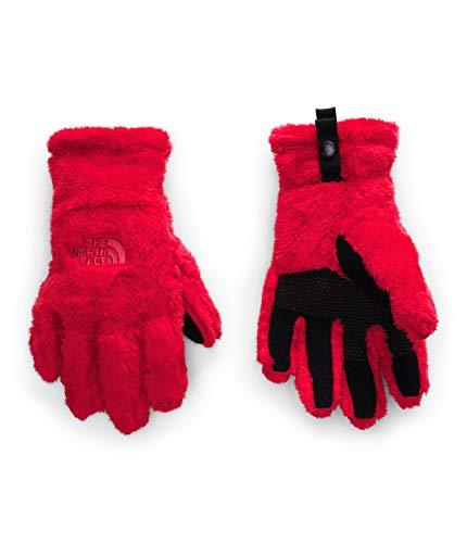 The North Face Osito Etip - Guante para niñas, color rojo, L