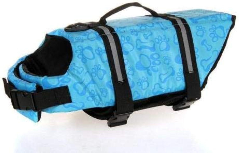 FidgetGear Dog Life Jacket Swimming Float Vest Buoyancy Aid Pet XS Small Medium Extra Large bluee Bone M