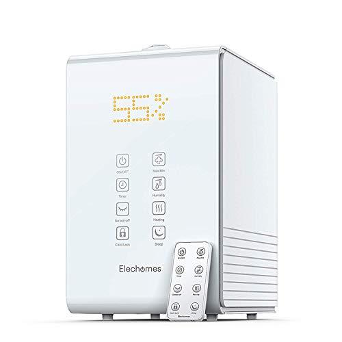 Elechomes Top-Fill Ultrasonic Humidifier 5.5L, Warm and Cool Mist, Dual 360° Mist...