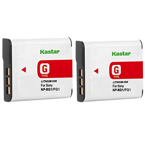 Kastar Battery (2-Pack) for Sony NP-BG1, NP-FG1, NP-FG1, BC-CSG, BC-CSGE work with Sony Cyber-shot DSC-H3 DSC-H7 DSC-H9 DSC-H10 DSC-H20 DSC-H50 DSC-H55 DSC-H70 DSC-H90 DSC-HX5V DSC-HX7V DSC-HX9V DSC-HX10V DSC-HX20V DSC-HX30V DSC-N1 DSC-N2 DSC-T20 DSC-T100 DSC-W30 DSC-W35 DSC-W50 DSC-W55 DSC-W70 DSC-W80 DSC-W90 DSC-W100 DSC-W120 DSC-W130 DSC-W150 DSC-W170 DSC-W200 DSC-W210 DSC-W215 DSC-W220 DSC-W230 DSC-W270 DSC-W290 DSC-W300 DSC-WX1 DSC-WX10 Handycam HDR-GW77V