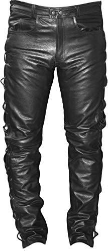 German Wear Pantalones moteros de cuerpo con lazado lateral