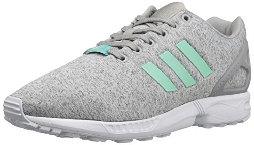 adidas Originals ZX Flux W tenis de moda con cordones para mujer, Gris (blanco, gris jaspeado, menta (Medium Grey Heather/Easy Mint White)), 39 EU