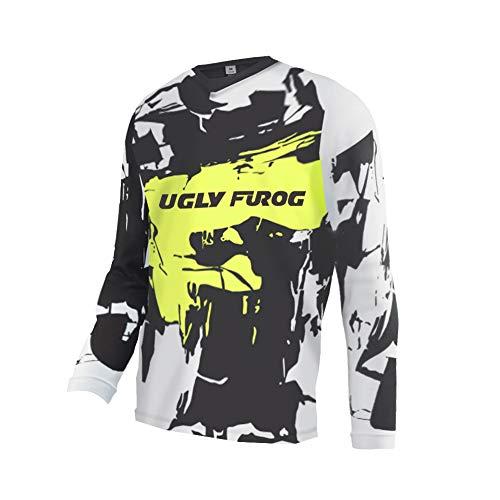 Uglyfrog Motocross Jersey Mountain Bike Moto Downhill Trikot Langarm Racewear Enduro Cross Motorrad MTB Shirt Herren SJFL02M