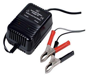 HQ BAT-LEAD-C10HQ, Caricabatterie per le Batterie al Piombo da 2 - 6 - 12 Volt DC , Colore Nero