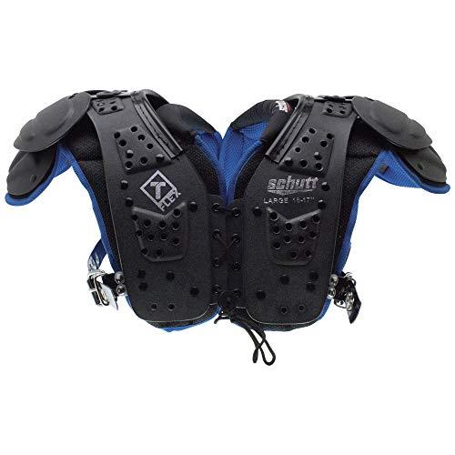Schutt Sports T-Flex Youth Shoulder Pad, Black/Neon Blue, Small