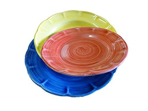 Stendhal Art.VT01 Posto Tavola Colorato Composto da 3 Pz Ceramica di Vietri Dipinto a Mano