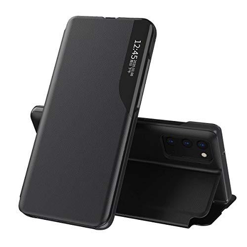 TingYR Hülle für Xiaomi Poco M3 Pro 5G Schutzhülle, Smart Ultra Slim Flip Hülle, Anti-Scratch, Magnetverschluss, Standfunktion, Handyhülle für Xiaomi Poco M3 Pro 5G.(Schwarz)
