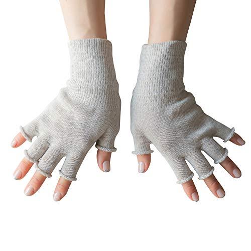 [ソワン] オーガニックコットン100%ハンドウォーマー 手袋 レディース メンズ 男女兼用 綿 (イチジク)