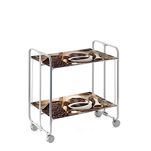 DHO - Table roulante pliante BAUHAUS châssis gris aluminium.