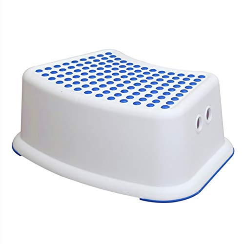 Saladplates-LXM Non Slip Up Step Kruk, Plastic Kleine Stap Kruk Kinderkruk, Antislip-opbergbank Anti-Slip Voet Perfect Voor Veilige Peuter Loo Potty Training In De Badkamer En Thuis