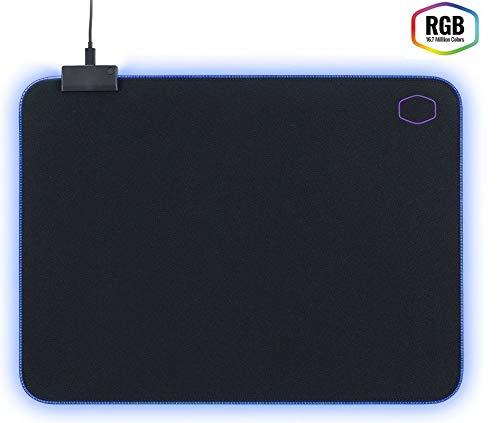 Cooler Master - MP750 - Tapis de Souris Gaming souple RGB - Taille M - 470 x 350 x 3 mm – Résistant à l'eau/transpiration - Base Anti-Dérapante - Noir