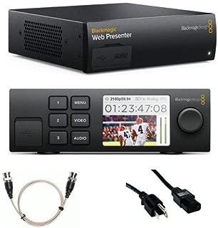 Blackmagic Design Web Presenter - Bundle Teranex Mini Smart Panel, 6' Standard PC Power Cord, 24