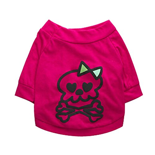 Grand Puppy Taille Vêtements Animaux Apparel Fuchsia Demi couleur manches