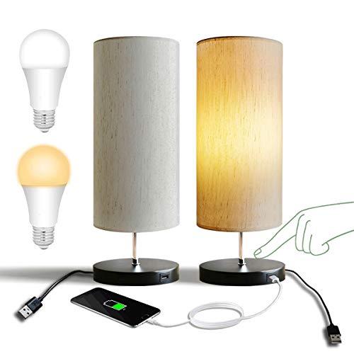 USB Lámpara de Mesa Táctil, GLUROO Lampara de Noche Regula