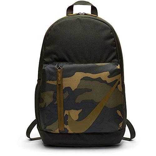 Nike Y NK ELMNTL BKPK - CAMO, Unisex-Kinder Rucksack, Mehrfarbig (Sequoia/Sequoia/Oliv), 15x24x45 cm (W x H L)