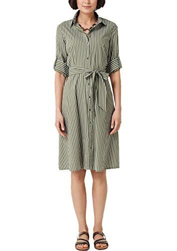 s.Oliver Damen 14.904.82.2007 Kleid, Grün (Olive Stripes 77g5), (Herstellergröße: 44)