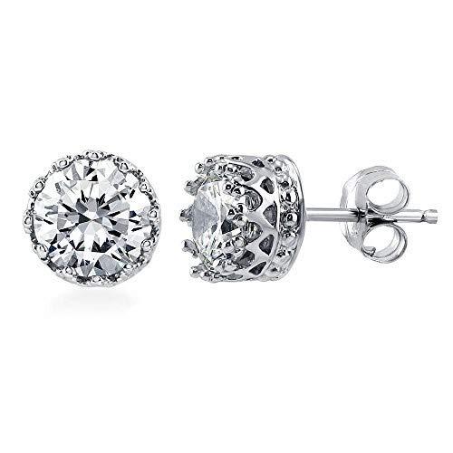 1 Carat Swarovski Crystal Stud Earrings by: JNH Global