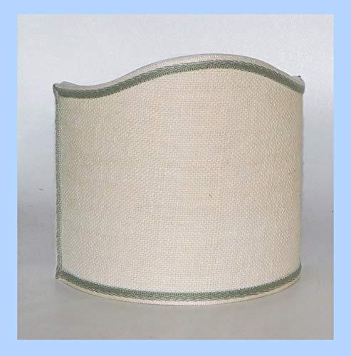 Paralume semiluna ventola in tessuto Juta avorio con rifinitura - produzione propria -...