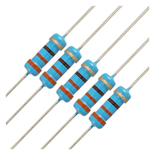 20 Pieces 3K Ohm 1//2 Watt 5/% Tolerance Metal Film Resistor 1//2W