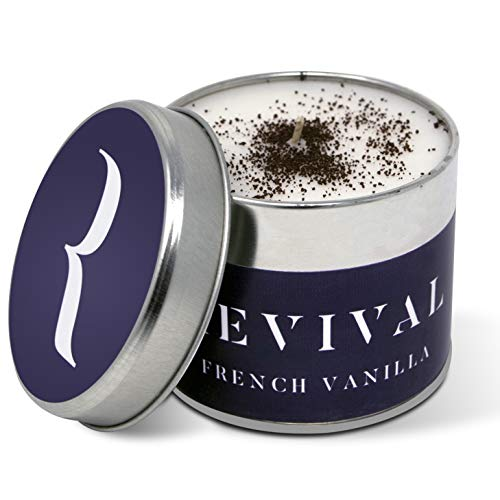 Revival French Vanilla luxury, vegan candle - up to 45 hour hour burn - Hand poured and infused with Madagascan Vanilla and Bourbon