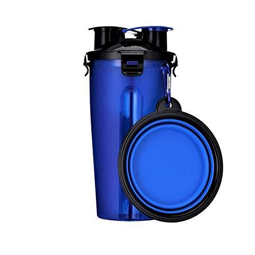 Weidinger 2-in-1 Hunde Reiseflasche mit faltbarem Napf | Flasche 23 * 11 / Napf 13 * 5 | 350ml Wasser/250g Futter Kapazität | Praktisches Gadget für Ausflüge mit Ihrem Pelzigen Freund