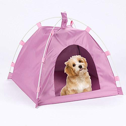 GCSEY Verhoogde Hond Kinderbedje met Luifel Schaduw Verhoogd Ademend Bed voor Koeling Duurzame Kauwbestendige Tent Bouw Binnen Outdoor Waterdichte Huisdier Kinderbedjes