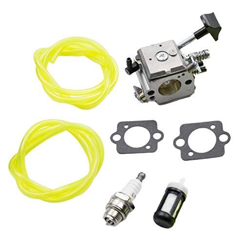 Baoblaze Carburador BR400 para Stihl BR320 BR340 BR380 BR400 BR420 42031200601 Kit de línea de combustible de filtro de aire