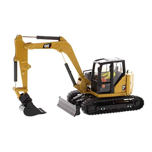 Diecast Masters CAT Caterpillar 309 CR Next Generation Mini Hydraulic Excavator with Work Tools and Operator High Line Series 1/50 Diecast Model 85592
