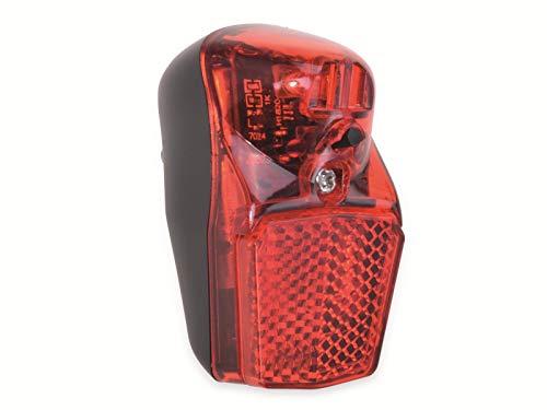 Filmer universal LED Batterie-Rücklicht für Schutzblech Modern Line 1, Rot/Schwarz, 63x37x35 mm