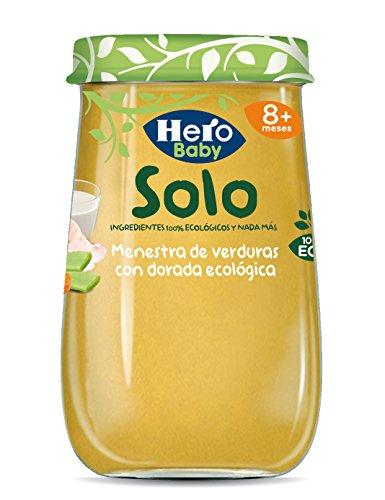 HERO Baby Solo menestra de verduras con dorada 100% ecológica tarrito 190 gr