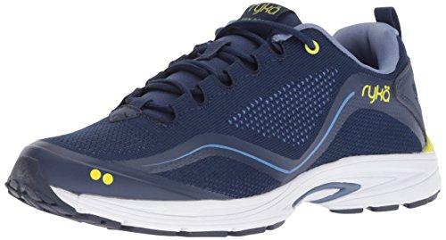 Ryka Women's Sky Bolt Walking Shoe, Blue/Yellow, 9 W US