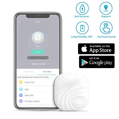 Evershop Schlüsselfinder Anti-Lost Tracker, Bluetooth Tracker GPS Locator Wallet Telefonschlüssel Alarm Reminder fürTelefon Haustiere Schlüsselbund Brieftasche Gepäck