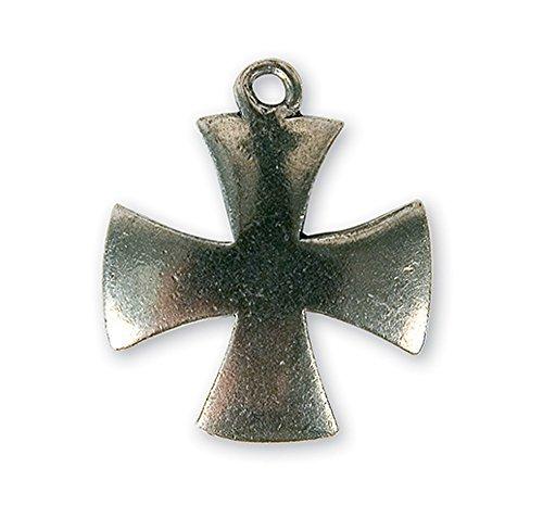MaryBoutik Pendentif templier Croix pattée Solaire (Fabrication Française)