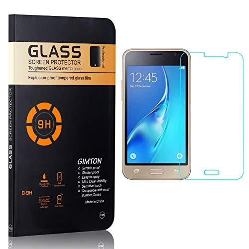 GIMTON Displayschutzfolie für Galaxy J1 Ace, 9H Härte, Blasenfrei, Anti Öl, Ultra Dünn Kratzfest Schutzfolie aus Gehärtetem Glas für Samsung Galaxy J1 Ace, 4 Stück